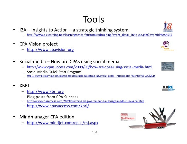 Tools • I2A – Insights to Action – a strategic thinking system     –   http://www.bizlearning.net/learningcenter/customize...