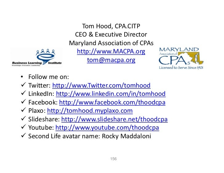 Tom Hood, CPA.CITP                 CEO & Executive Director                       &                Maryland Association of...