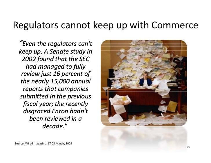"RegulatorscannotkeepupwithCommerce   g                  p p    ""Eventheregulatorscan't    keepup.ASenatestudy..."