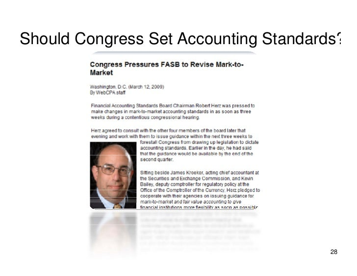 Should Congress Set Accounting Standards?                                            28