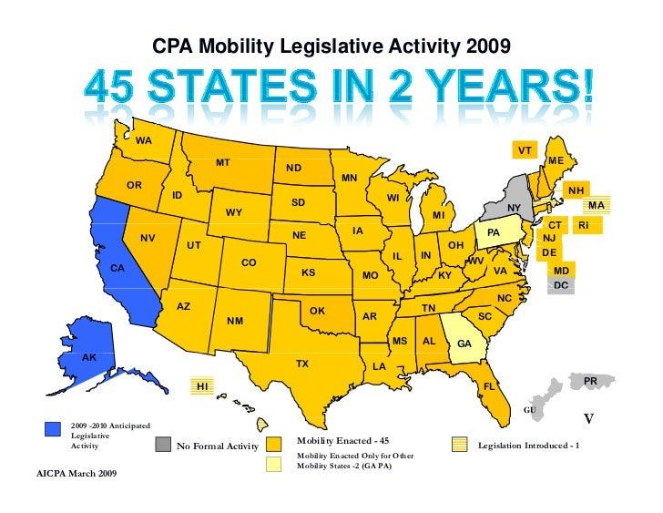 CPA Mobility Legislative Activity 2009                           WA                                                       ...