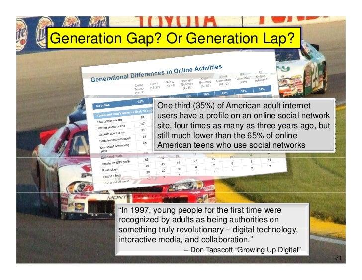 Generation Gap? Or Generation Lap?             Generations                     One third (35%) of American adult internet ...