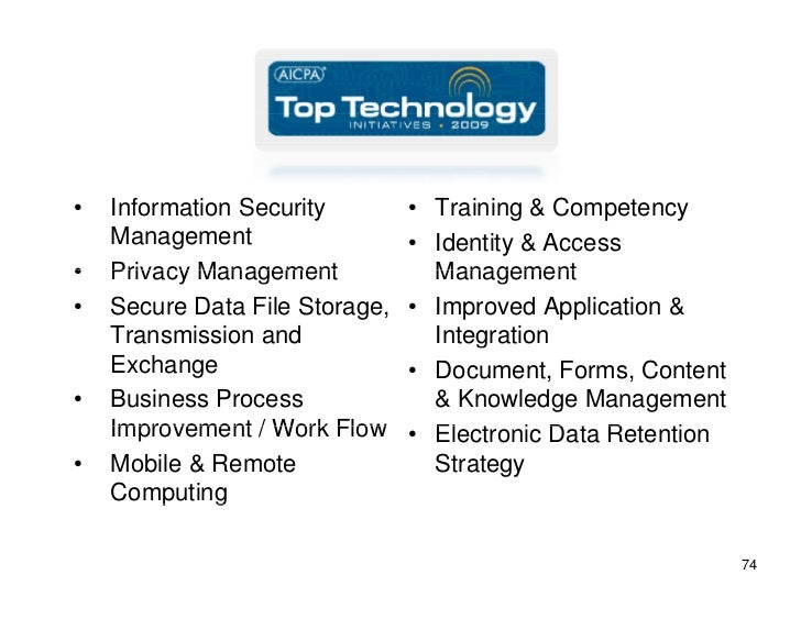 •   Information Security        • Training & Competency     Management                  • Identity & Access •   Privacy Ma...