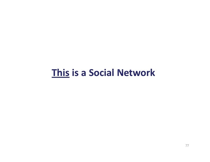 This is a Social Network  Thi i S i l N t        k                                 77