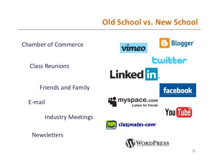 OldSchoolvs.NewSchool  ChamberofCommerce     ClassReunions         FriendsandFamily    E‐mail         IndustryMe...