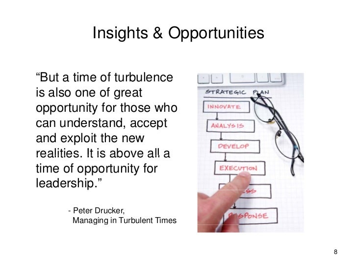 "Insights & Opportunities  ""But a time of turbulence is also one of great opportunity for those who can understand accept  ..."
