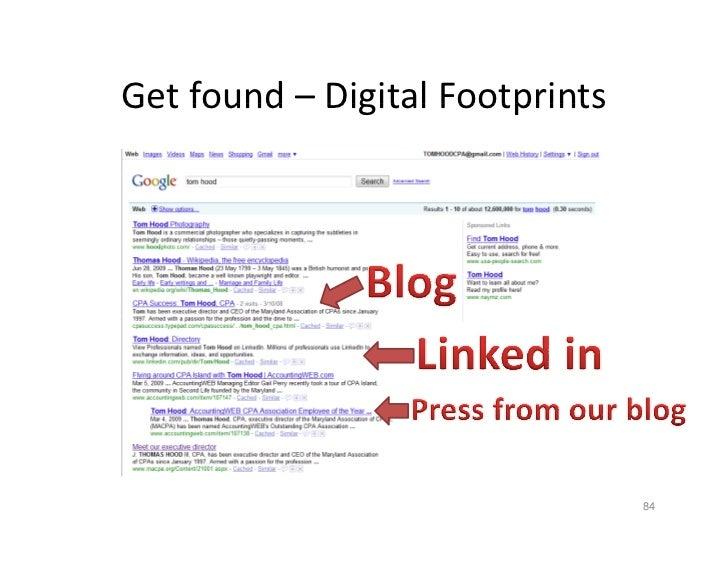Getfound DigitalFootprints Get found – Digital Footprints                                      84