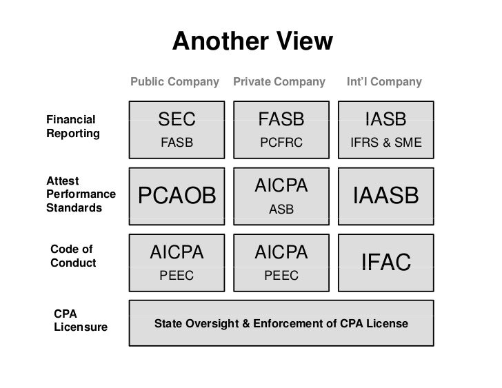 Another View               Public Company   Private Company    Int'l Company   Financial         SEC              FASB    ...