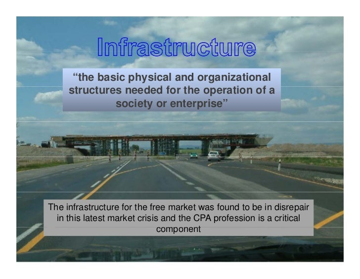 """""""the basic physical and organizational      structures needed for the operation of a       t   t        d d f th          ..."""
