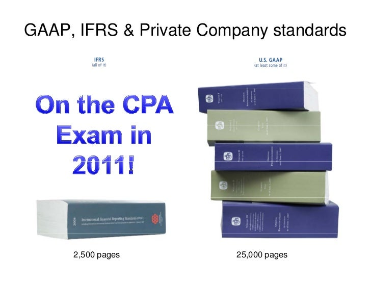 GAAP, IFRS & Private Company standards          2,500 pages         25,000 pages