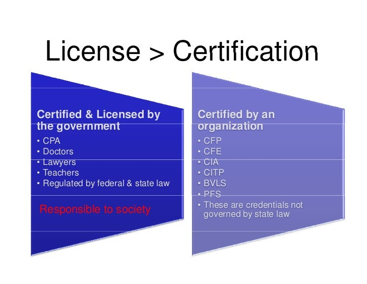 License > Certification  Certified & Licensed by                Certified by an the government     go ernment             ...