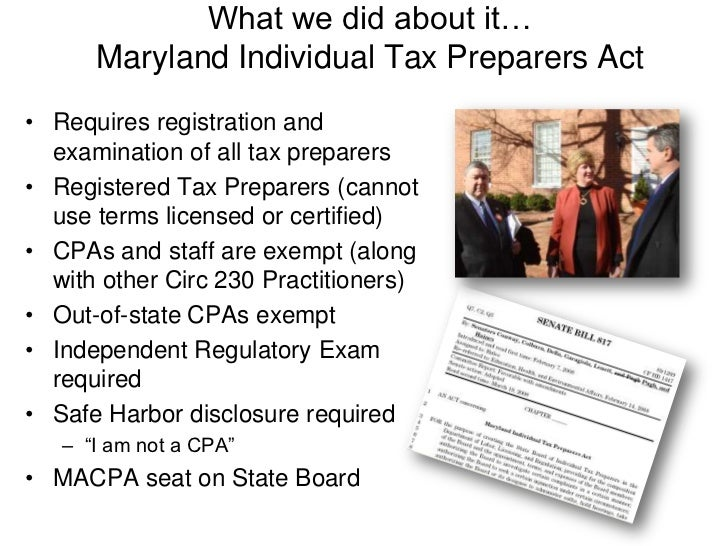 MACPA's 2010 Agenda<br />Stop sales Tax on Accounting & Tax services<br />Oppose combined reporting<br />Stop efforts to l...