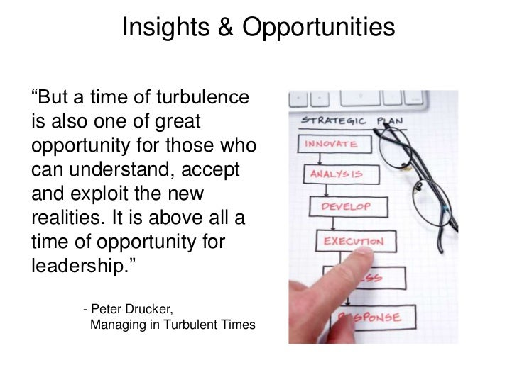 """Insights & Opportunities<br />""""But a time of turbulence is also one of great opportunity for those who can understand, acc..."""
