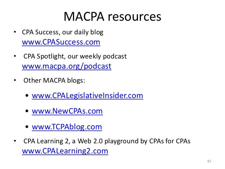 Educate yourself<br />Free self-directed learning for CPAs by CPAs<br />http://www.cpalearning2.com<br />