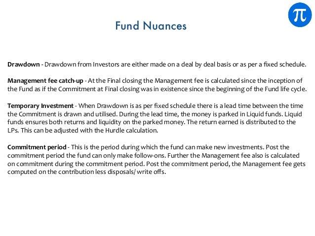 Drawdown-DrawdownfromInvestorsareeithermadeonadealbydealbasisorasperafixedschedule. Managementfeecat...