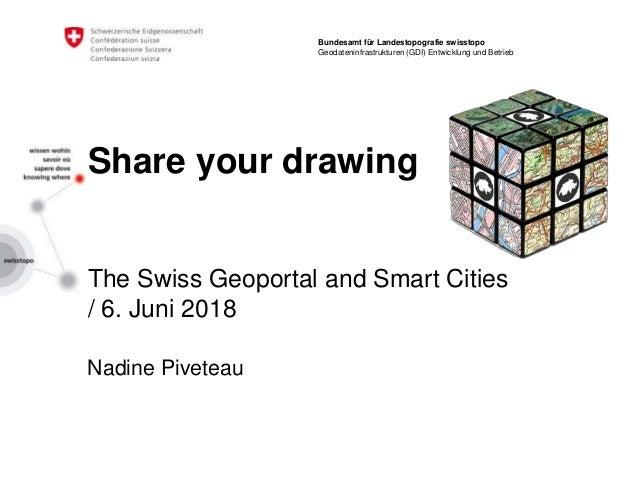 Share your drawing The Swiss Geoportal and Smart Cities / 6. Juni 2018 Nadine Piveteau Bundesamt für Landestopografie swis...