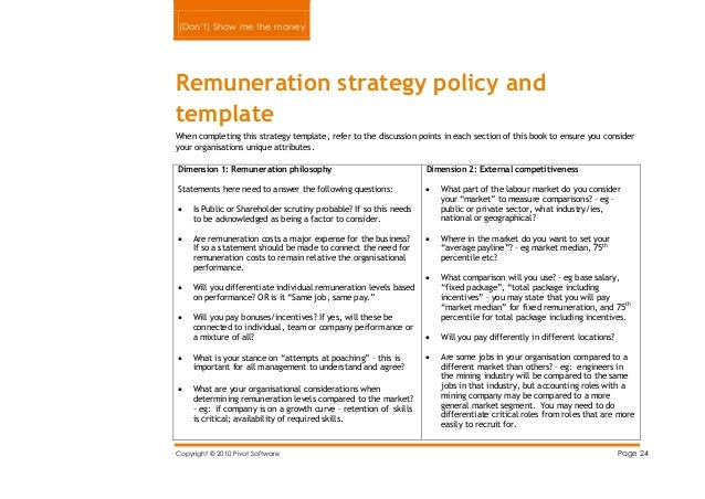 remuneration policy template