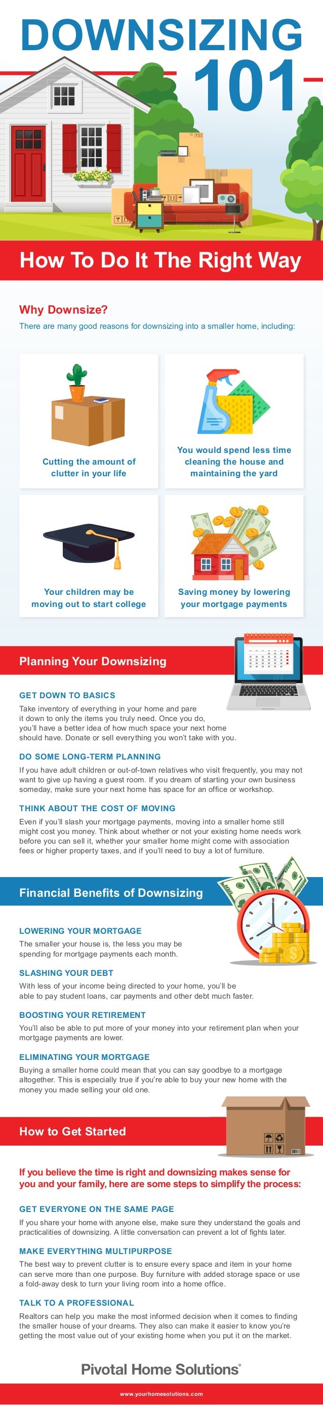 Planning Your Downsizing GET DOWN TO BASICS Take inventory of everything in your home and pare it down to only the items y...