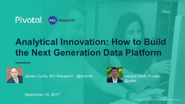 © Copyright 2017 Pivotal Software, Inc. All rights Reserved. Analytical Innovation: How to Build the Next Generation Data ...