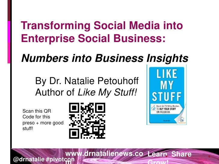 Transforming Social Media into Enterprise Social Business: <br />Numbers into Business Insights <br />By Dr. Natalie Petou...