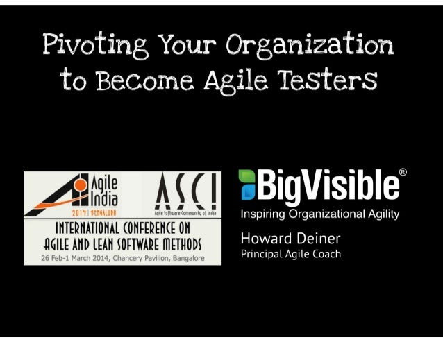 Pivoting Your Organization to Become Agile Testers