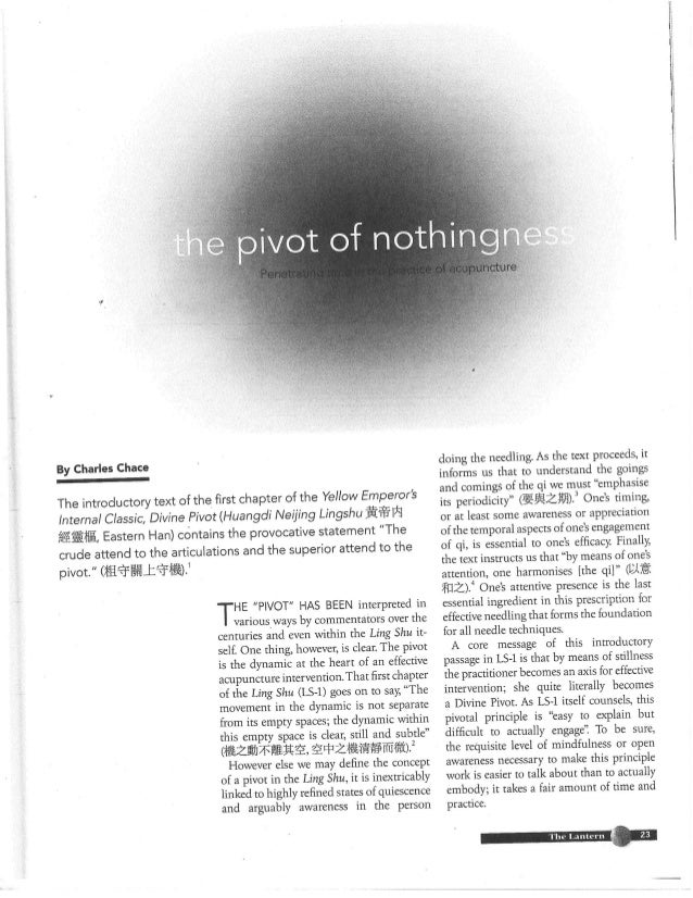 Pivot of nothingness - By Chip Chace