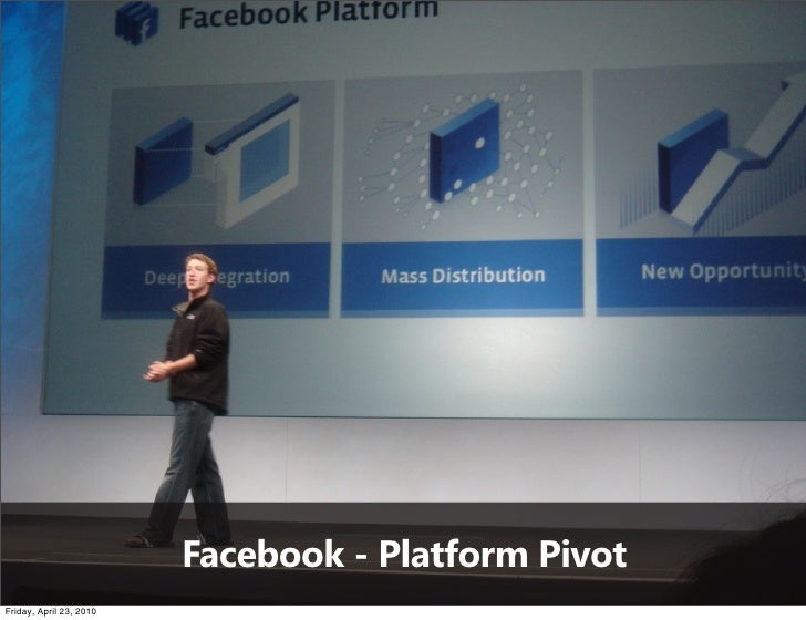 Facebook - Platform Pivot Friday, April 23, 2010