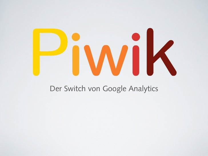 Der Switch von Google Analytics