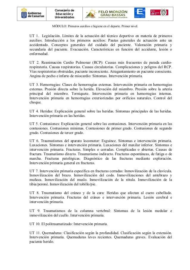 PRIMEROS AUXILIOS E HIGIENE EN EL DEPORTE