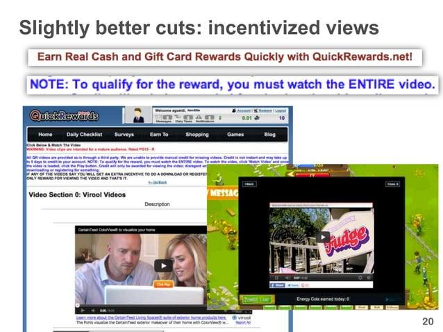 Slightly better cuts: incentivized views                                           20