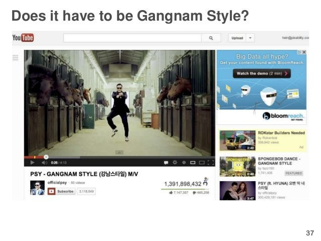 Does it have to be Gangnam Style?                                    37
