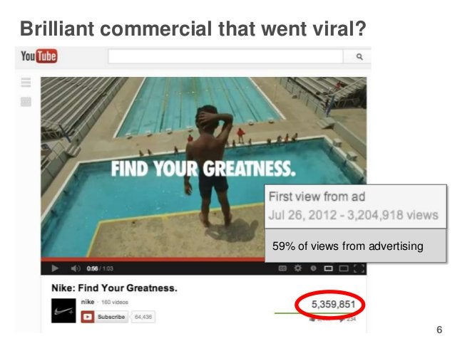 Brilliant commercial that went viral?                          59% of views from advertising                              ...
