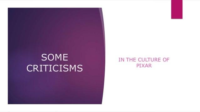 An Analysis of Pixar's Culture