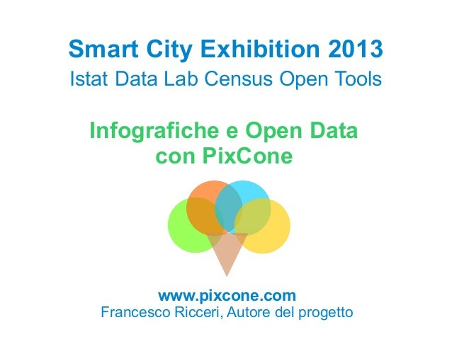 Smart City Exhibition 2013 Istat Data Lab Census Open Tools  Infografiche e Open Data con PixCone  www.pixcone.com  France...