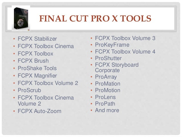Best Final Cut Pro X Plugins