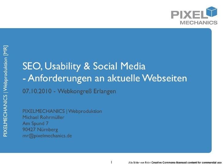 Vortrag: Anforderungen an moderne Webseiten - SEO, Usability & Social Media