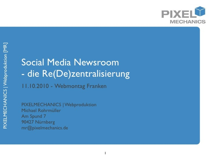 PIXELMECHANICS | Webproduktion [MR]                                           Social Media Newsroom                       ...