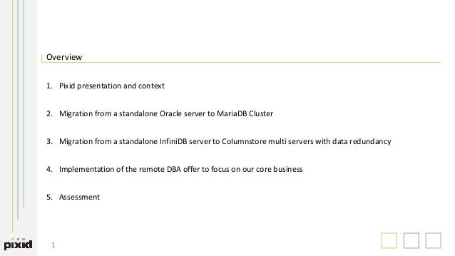 How Pixid dropped Oracle and went hybrid with MariaDB Slide 2