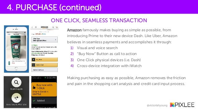 Amazon famously makes buying as simple as possible, from introducing Prime to their new device Dash. Like Uber, Amazon bel...