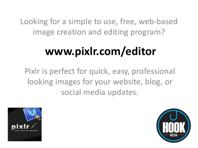 Looking for a simple to use, free, web-based image creation and editing program?  www.pixlr.com/editor Pixlr is perfect fo...