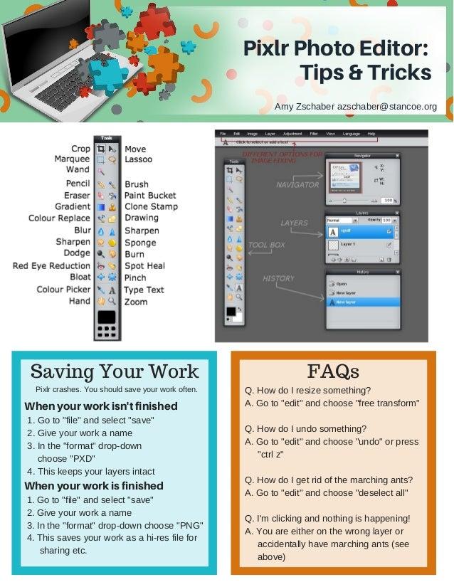 Pixlr Tips And Tricks Handout