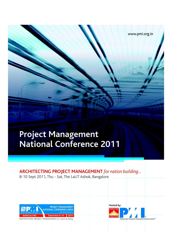 """Project Management National Conference 2011                                  PMI India  """"Project Management - Ethics  vers..."""