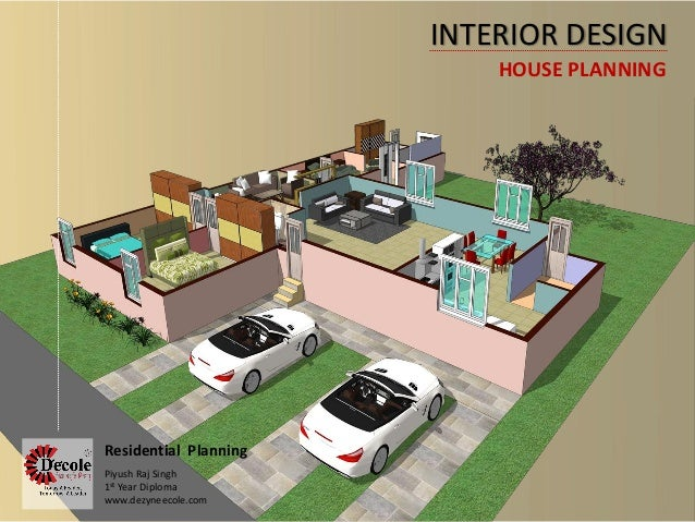 INTERIOR DESIGN HOUSE PLANNING Residential Planning Piyush Raj Singh 1st Year Diploma Dezyneecole