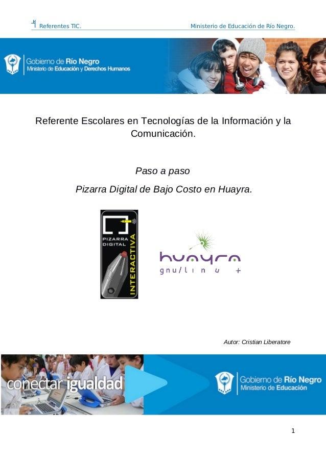 Referentes TIC. Ministerio de Educación de Río Negro. Referente Escolares en Tecnologías de la Información y la Comunicaci...
