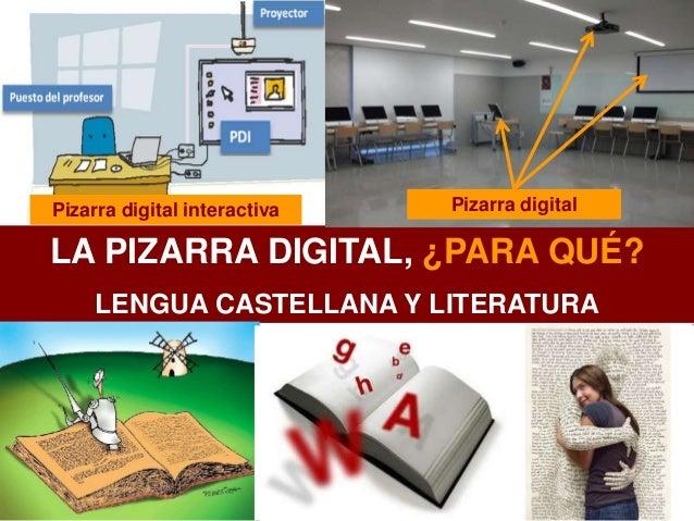 LA PIZARRA DIGITAL, ¿PARA QUÉ? LENGUA CASTELLANA Y LITERATURA Pizarra digital interactiva Pizarra digital