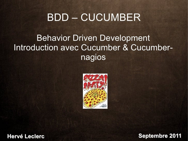 BDD – CUCUMBER        Behavior Driven Development  Introduction avec Cucumber & Cucumber-                    nagiosHervé L...