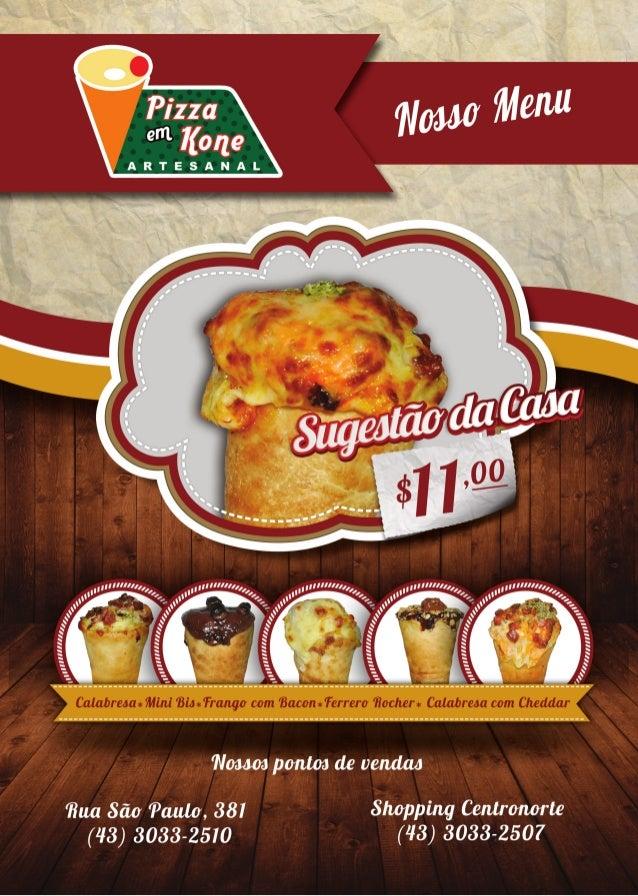 Menu da Pizza em Kone Artesanal de Apucarana