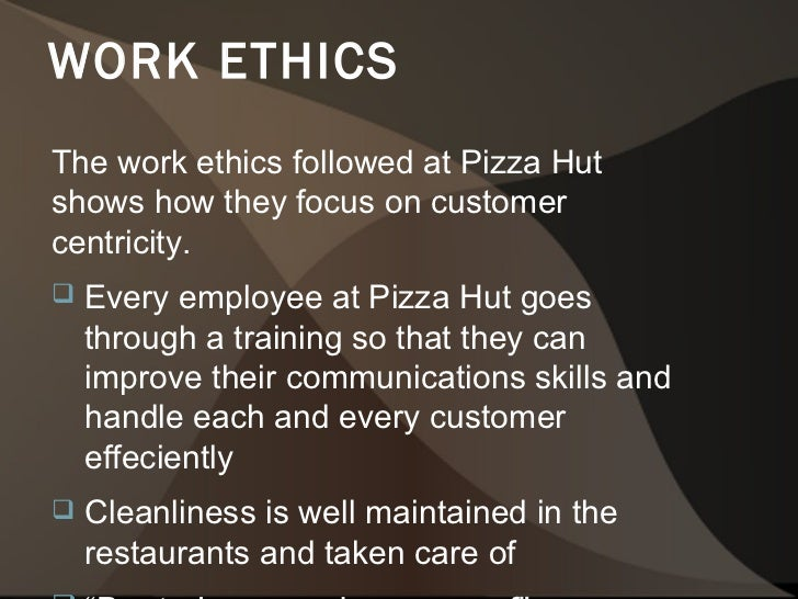 pizza hut ethical issues Daniels fund ethics initiative pepsico's journey toward an ethical and socially responsible culture and pizza hut inc.