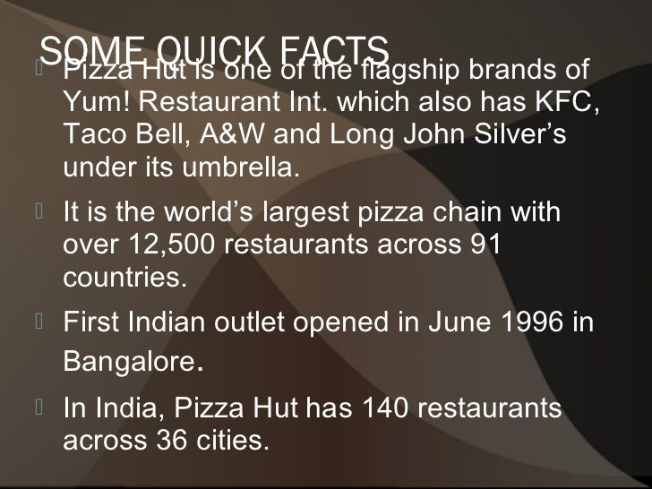 pizza hut is one of the flagship brands Pizza hut is one of the flagship brands of yum brands, inc, which also has kfc, taco bell, a&w and read more long john silver's under its umbrella.