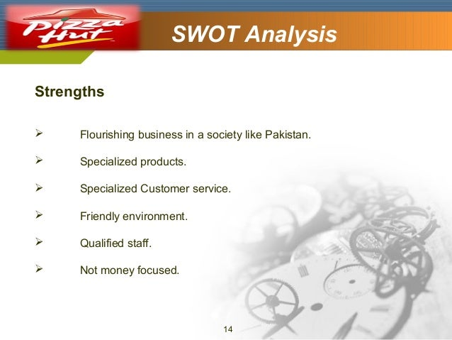 Company Logo  SWOT Analysis  Strengths   Flourishing business in a society like Pakistan.    Specialized products.    S...